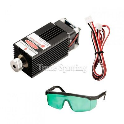 Sainsmart 2500mw 450nm Blue Laser Head Module Kit With Goggles For Cnc Router
