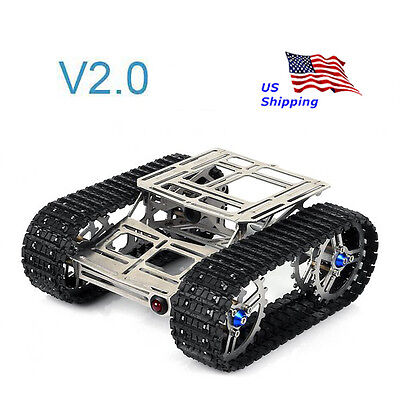 Sainsmart Full Metal Robot Car Chassis Track Tank V2.0 For Arduino Uno Mega2560