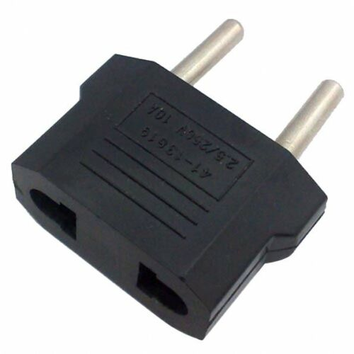 hot 5pcs us usa to european euro eu travel charger adapter. Black Bedroom Furniture Sets. Home Design Ideas