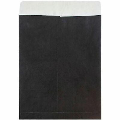 Jam Paper Tyvek Black 10x13 Top Load Envelope