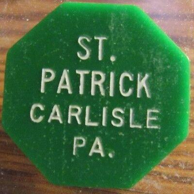 1967 St. Patrick Carlisle, PA 15c Transit Bus Token - Pennsylvania Penn.
