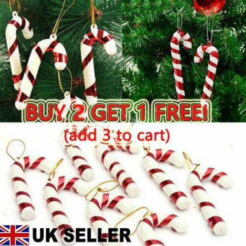 12X Christmas Candy Cane Ornaments Party Xmas Tree Hanging Decoration  MEHCUK