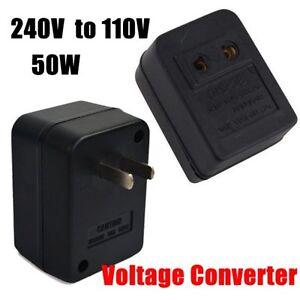 50w power converter adapter ac 220v 240v to 110v 120v. Black Bedroom Furniture Sets. Home Design Ideas