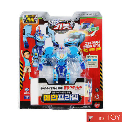 Hello Carbot EVAN PRIME Unity series Blue Transformer Robot Car Turning Mecard