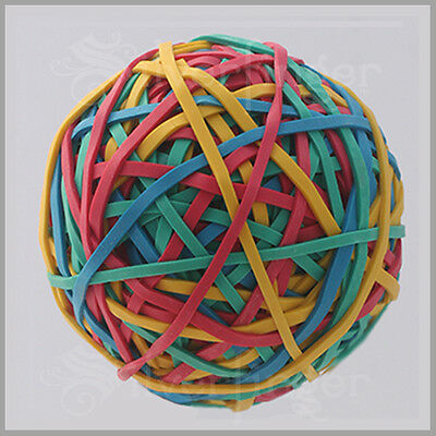 240pc Rubber Band Balls Multicolor Rubberbands Ball School Office Hobby X1357