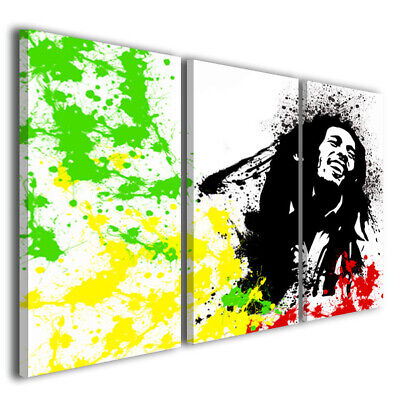 Quadro Bob marley II stampa su tela canvas decorazione moderna immagine pop art comprar usado  Enviando para Brazil