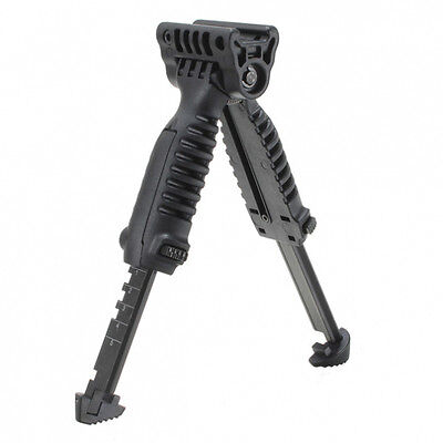 Tactical Rifle Vertical Foldable Fore Grip Foregrip Adjustable Bipod Tpod System on Rummage