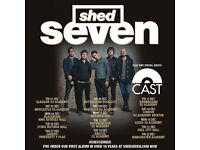 4x Shed Seven tickets, Manchester Academy, Friday 22nd December 2017