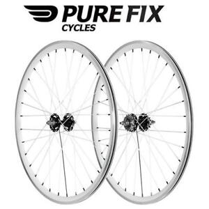NEW* PURE CYCLES PRO WHEELS 188451496 PURE FIX 700C 30MM MA HINES PRO WHEELSET