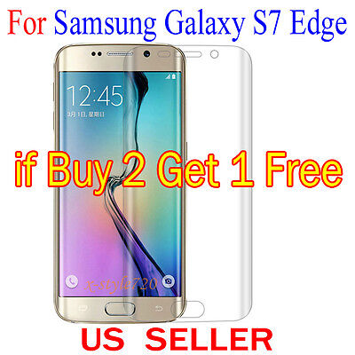 Fully Cover Curved Clear Screen Protector Guard Film For Samsung Galaxy S7 Edge