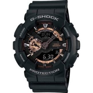 Casio G-Shock Mens LED Digital Analogue Watch Black