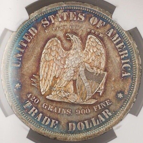 1873 Trade Dollar $1 Us Pattern Coin Judd 1299 Ngc Proof Details Toned Ww