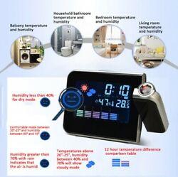 Modern Digital LED Desk Alarm Clock Thermometer Timer Calendar USB Charger USA