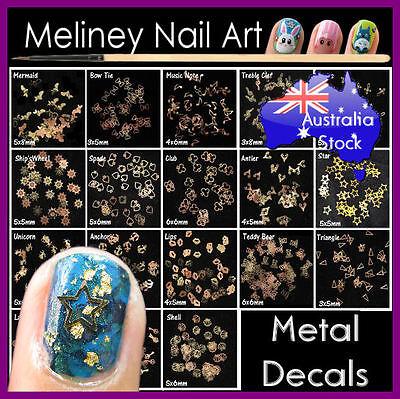 Metal Slices Nail art Gold Decoration Decal Craft DIY Ultra Thin (Metal Art Embellishments)