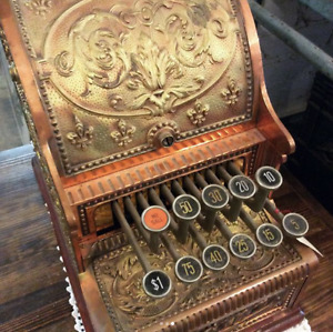 Antique 1890 National Cash Register Model 211