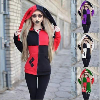 Hat Zipper hoodies Squad Harley Quinn Printed Pullover Pocket hoodie S-3XLHoodie - Harley Quinn Hoodie