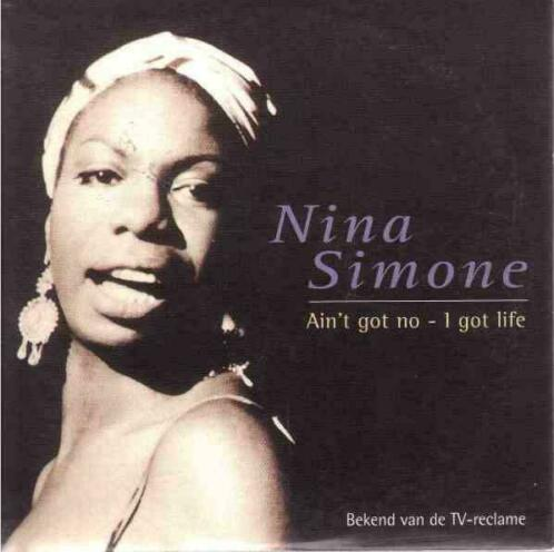 cd single card - Nina Simone - Ain't Got No - I Got Life