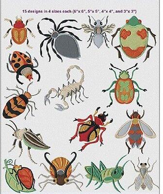 Anita Goodesign Embroidery Design CD  ANITA's ATTIC  BUGS - NEW
