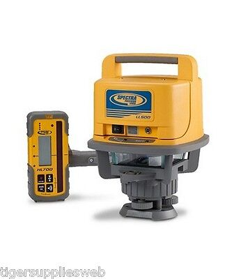Spectra Precision Ll500 Rotary Laser Level W Hl700 Receiver And Hard Carry Case