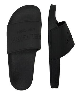 Slydes Elate Religion London Mens Slip On Sliders Flip Flops Black S0040S001 Z2A