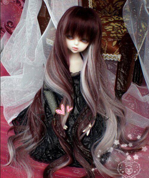 1 6 6-7 Bjd Wig YOSD Wig SD MSD Dal Luts Dollfie Lati Doll wigs blue 15-17CM