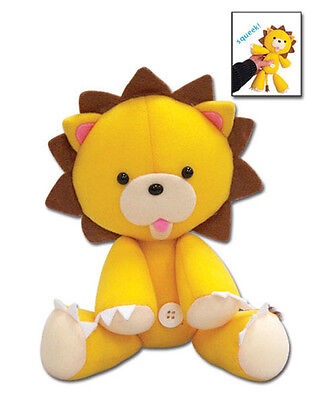 """1x Official Sealed (GE-87503) Bleach 9.5"""" Kon Lion (Squeaky) Plush Great Eastern"""