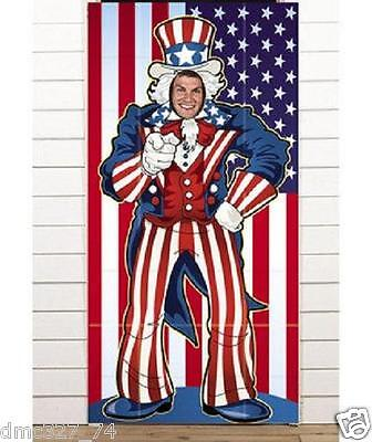 Fourth Of July Banner (4th of July Summer PATRIOTIC Party UNCLE SAM Photo Photograph Prop Door)