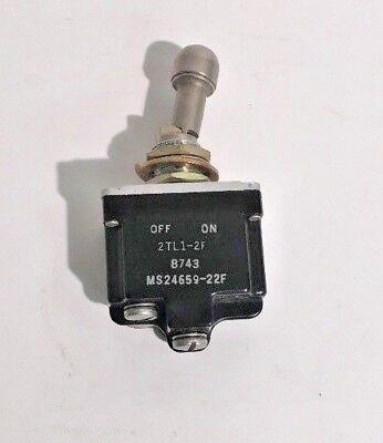 New Honeywell Ms24659-22f Mil-spec Locking Lever Toggle Switch