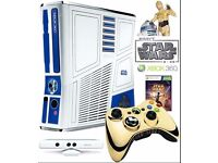 Xbox 360 Star Wars Edition With Kinect and 2 Kinect Games. Boxed and in New Condition