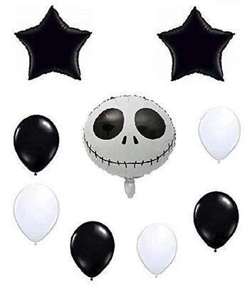 Jack Skellington Balloon Set Nightmare Before Christmas Decoration Kit - Jack Skellington Birthday