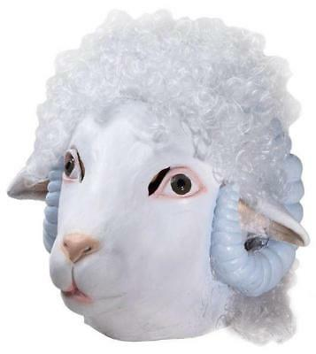 Deluxe Sheep Latex Adult Mask with - Adult Sheep Mask