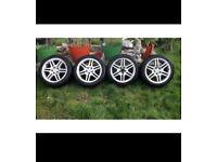 "Mercedes c class w204 17"" alloy wheel alloys wheels amg sport BORBET rear wide staggered merc"