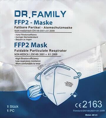 20x Dr. Family FFP2 Atemschutzmaske Mundschutz Maske Mund Nasen CE 2163