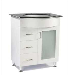 30″ White Vanity with Granite Top - new in a box