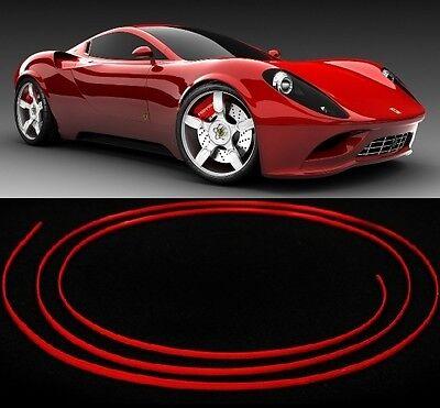 3m Red Trim Micro Molding Strip 4mm Interior Exterior Car Styling Ac Vent Trim