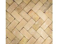 Buff clay floor bricks