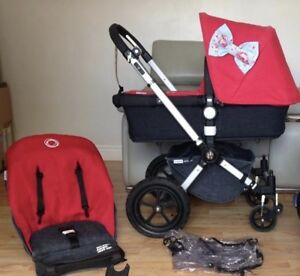 Bugaboo Cameleon 3, Graco car seat and adaptor, plus many extras