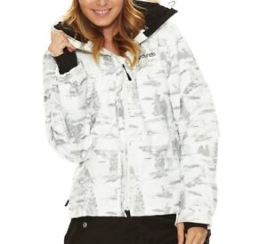 Rip-Curl-Pendulum-White-Size-M-12-Womens-Girls-Camo-Pro-Snow-Board-Ski-Jacket
