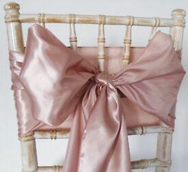 Rose Gold Satin Chair sashes