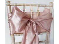 Rose gold wedding sashes