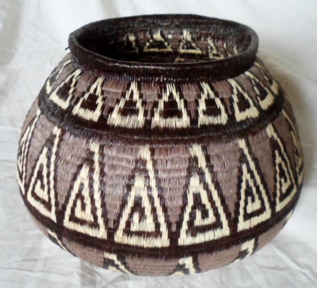 Wounaan Gorgeous Hand Woven Classic Design Basket-Panama 20122117mm