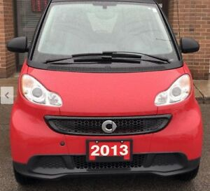2013 Smart fortwo Passion trim model, red/black only 26k km.