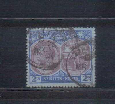 St Kitts Nevis George V 1920-22 2/- used