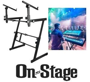 NEW ON STAGE 2 TIER KEYBOARD STAND KS7365EJ 210441118 Musical Instruments, Stage  Studio PIANO