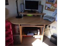 Beech Wood Computer Study Desk