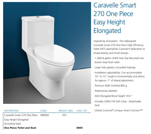 Caroma Caravelle Smart 270 One-Piece Dual-flush Toilet