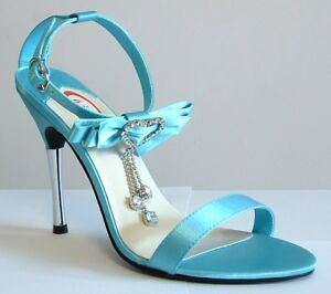 Sizes 7.5 to 12 Satin Sandals for Wedding, Prom, and Parties