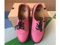 Dr Martens Air Wair Shoes 1461 PW Pink Rose with bouncing soles