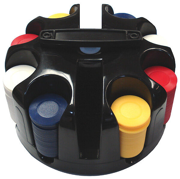 200 Chip Rotating Carousel W/ Handle & 200 Poker Chips Free Shipping