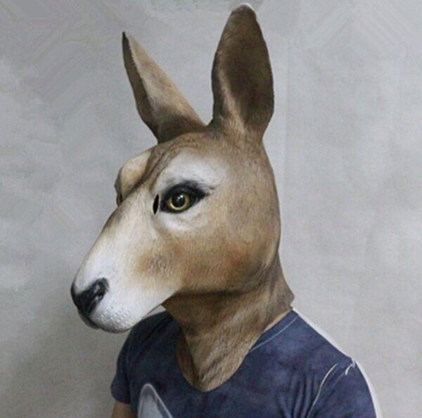 Känguru Wallaby Latex Maske Deluxe Australien Floyd Tier Maske Kostüm Masken